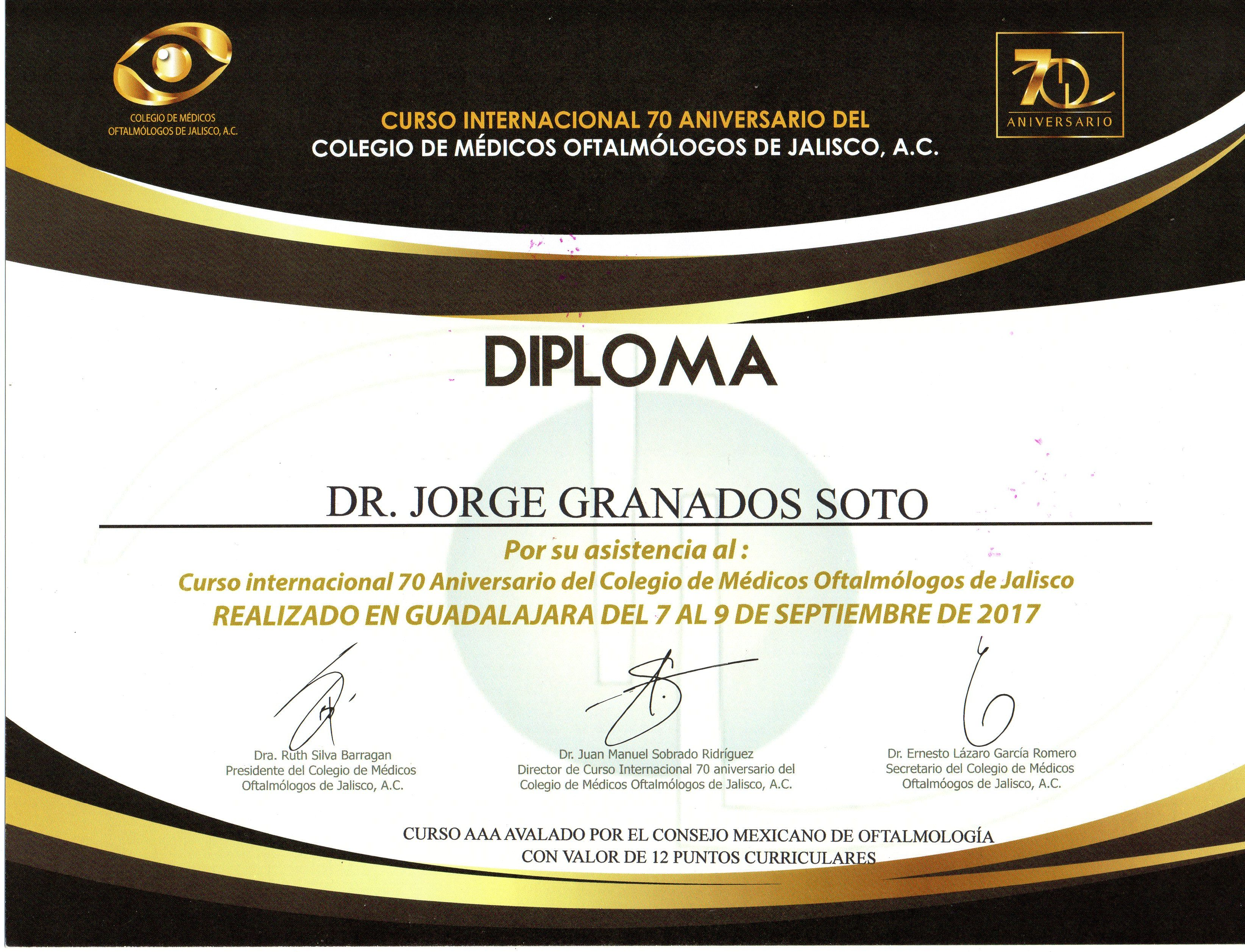 COLEGIO DE MEDICOS OFTALMOLOGOS DE JALISCO AC
